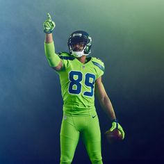Seahawks participate in NFL Color Rush 2016 Sarah M. This week the Seahawks… Seattle Seahawks, Seahawks News, Seahawks Football, Football Helmets, Football Stuff, College Football, Sports Uniforms, Football Uniforms, Sports