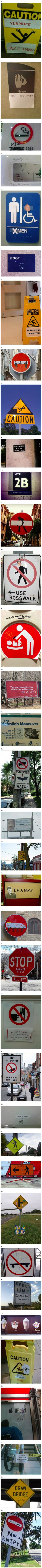 Here are some signs that have been modified in unexpected and geeky ways.