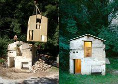 Alberto Grumi | Fasi costruttive, Materiali da costruzione