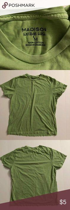 Guys Madison Green Vintage Wash Really nixe guys Madison Vintage Wash Shirt 1 Madison Shirts Tees - Short Sleeve