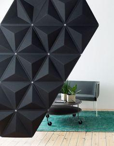 Sound absorbing modular desk #partition AIRCONE by Abstracta | #design Stefan Borselius