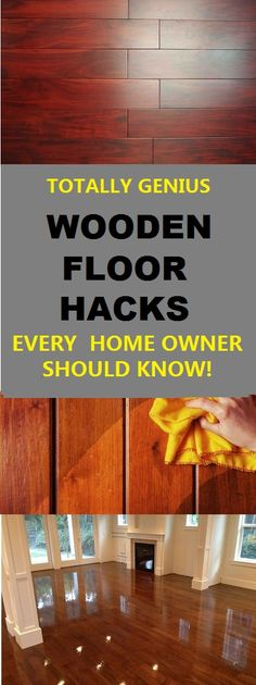 Wooden floor hacks that all homeowners should you about. These tips will help to keep a nice shiny wooden floor. #home #woodenfloor #wood #hacks #floors #hardwood #cleaning