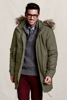 Canvas Men's Expedition Parka from Lands' End
