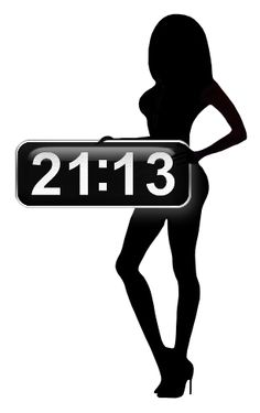 Sexy Shadow Clock for xwidget by jimking.deviantart.com on @deviantART