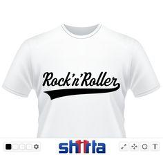 Rock 'n' Roller-Schriftzug im klassischen Retro-Design / Rock 'n' Roller lettering in classic retro style / Rock 'n' Roller logo en design rétro classique