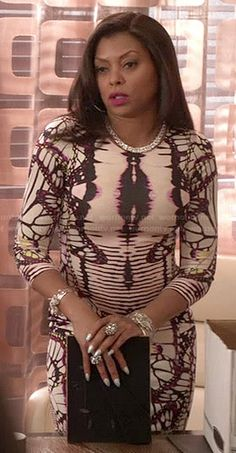 Cookie�s butterfly print dress on Empire. Outfit Details: http://wornontv.net/47017/ #Empire