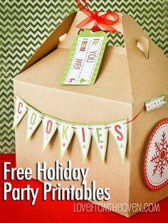 Holiday Party & Baking Printables From Catch My Party and HP Ink #holidayentertaining