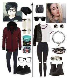 """""""The family secret- Skylar and Damon"""" by littlenerd10 ❤ liked on Polyvore featuring BEA, H&M, Topshop, River Island, Dr. Martens, Accessorize, Diesel, Full Tilt, Converse and Spitfire"""