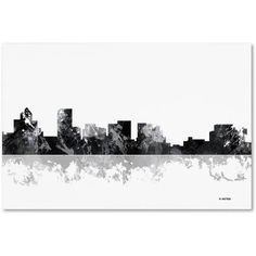 Trademark Fine Art Salem Oregon Skyline BG-1 inch Canvas Art by Marlene Watson, Size: 22 x 32, Multicolor