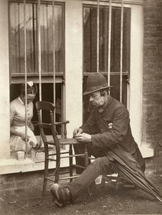 "Photographer: John Thomson ""Caney"" The Clown  [Street Life in London]  1877 Woodburytype #vintage London School of Economics - Digital Library"