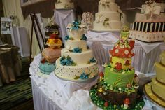 So much #weddingcake inspiration in one place! If you're looking for a wedding cake or ideas for your wedding cake you have to go to a PWG Wedding Show! The next one in Orlando is June 22. USE code PIN for discount tickets at Orlando.PWGShows.com #wedding #orlandowedding #cake #bakery #prettyweddingcake