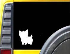 Yorkie Dog Decal Sticker *J588*