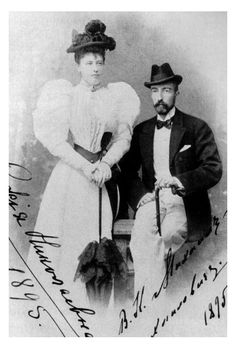 "Grand Duke Mikhail Mikhailovich Romanov of Russia with his wife Sophie de Torby. ""AL"""