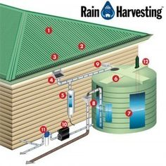 Water Cache website shares some in depth information about rain harvesting systems and the pros and cons. It explains the different parts of a advanced sys