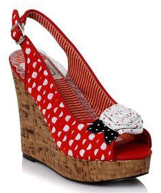 Look at this #zulilyfind! Red Josie Wedge #zulilyfinds