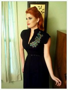 Pin Up Girl Clothing dress, Micheline. Vintage 40s style.