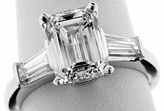 GIA Certified Estate Vintage Solitaire Emerald Cut Diamond Engagement Wedding Ring in Platinum on Etsy Vintage Inspired Engagement Rings, Beautiful Engagement Rings, Engagement Ring Styles, Engagement Jewelry, Emerald Cut Diamond Engagement Ring, Emerald Cut Diamonds, Ruby Pendant, Baguette Diamond, Tricks