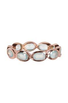 Aqua Chalcedony Ring Band