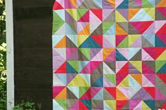 love this quilt- love solids- just wish I enjoyed making HSTs