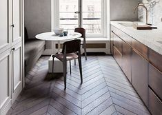Also love the chevron-patterned floor