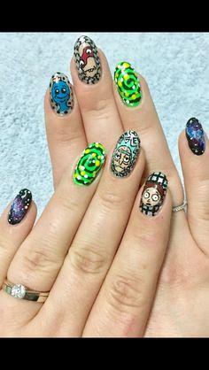 Rick and Morty nails