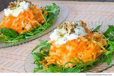 Möhren Apfel Salat mit Walnüssen Salat s morkovju u grezkimi orechami - Салат с морковью и грецкими орехами - Russische Rezepte