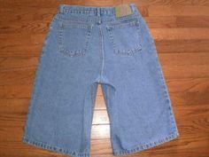BOYS 14 BUGLE BOY blue DENIM JEAN SHORTS baggy leg fit #BugleBoy #Everyday