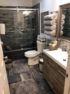 Dreaming of an extra or designer master bathroom? We've gathered together lots of gorgeous master bathroom a few ideas for small or large budgets, including baths, showers, sinks and basins, plus bathroom decor suggestions. Cottage Bathroom Design Ideas, Diy Bathroom Decor, Bathroom Design Small, Modern Bathroom, Bathroom Lighting, Bathroom Ideas, Bathroom Designs, Bathroom Organization, Minimal Bathroom