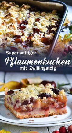 juicy plum cake with Zwillingsteig the ideal dough for fruit cake . Super juicy plum cake with Zwillingsteig the ideal dough for fruit cake .Super juicy plum cake with Zwillingsteig the ideal dough for fruit cake . Plum Kuchen Recipes, Cake Recipes, Dessert Recipes, Soup Appetizers, Appetizer Recipes, Cakes Originales, Free Fruit, Zucchini Cake, Plum Cake
