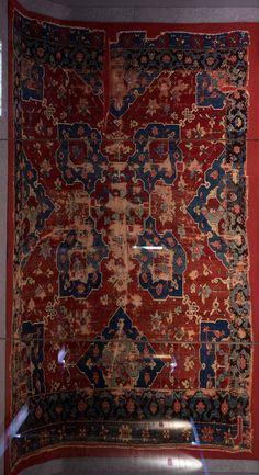 Ushak Star carpet, XVII (17th) century, Turkey, Ottoman Empire. Vakiflar Museum, Istanbul