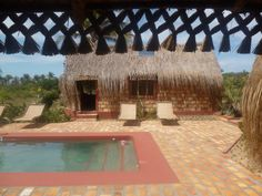 Casa de Cocos - one of the cabanas and the pool. Pergola, Villa, Africa, Swimming, Outdoor Structures, Holiday, Travel, Cabanas, Swim
