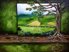 """Irish Roots"" acrylic and airbrush www.LorrieBridges.com"
