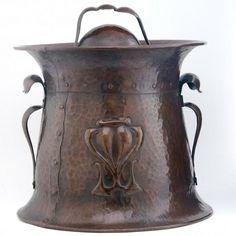 onondaga copper | ONONDAGA METAL SHOPS - Hammered Copper Coal Bucket - With Embossed ...