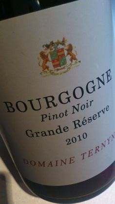 Geproefd.   Weer een wijn met korting van @VinabcHouten   Nu de  Domaine Ternynck 2010, Bourgogne Grande Réserve - http://www.wijngekken.nl/2012/12/21/domaine-ternynck-2010-bourgogne-grande-reserve/