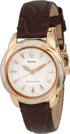 Bulova Women's 98R152 Precisionist Brightwater Leather strap Watch, Disclosure: Affiliate Link  *$206.86 - 215.36