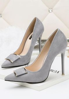 6c40036a029 Available Sizes   Heel Height   Platform Height   Heel Height   High Heel  Type   Stiletto Boot Shaft   Ankle Color   Grey Toe   Point Shoe Vamp    Suede ...