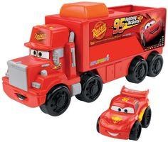 Fisher-Price Little People Wheelies Disney/Pixar Cars Mack Hauler & Lightning McQueen
