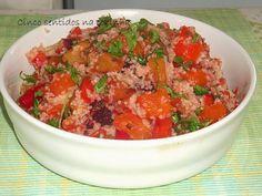 Cinco sentidos na cozinha: Couscous com legumes assados