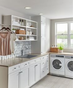 Decide how you want your laundry room to work. The laundry room cannot run at maximum efficiency if employees have difficulty working with equipment properly. If your laundry room doesn't hav… Laundry Room Countertop, Laundry Room Sink, Laundry Room Layouts, Large Laundry Rooms, Laundry Room Organization, Laundry Room Design, Cabinets For Laundry Room, Laundry Room With Storage, Laundry Room With Sink
