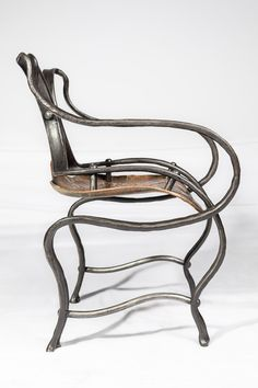 Forged mild steel and copper chair with patina Power Hammer, Blacksmithing, Cape Town, Sculpture Art, Copper, Passion, Fire, Texture, Steel