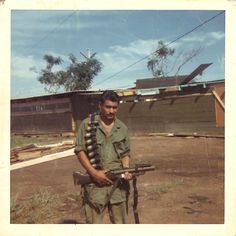 SP4 Ezekiel Hernandez of Charlie Company, 4th Battalion, 47th Infantry Regiment (Riverine). He served from with the division from 1968-1969. ~ Vietnam War