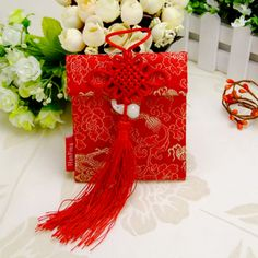 cloth red money packet