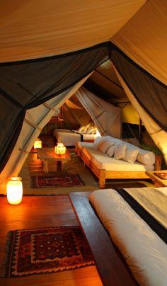 Tente de campement en Afrique du Sud