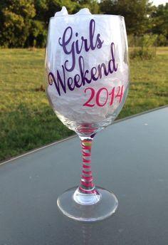 Girls Weekend 2014 Girlfriend Funny Fun Wine by CrissCrossCraft, $9.95