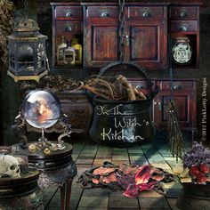 Digital images for your art and scrapbooking Kitchen witch Witch Witch cottage