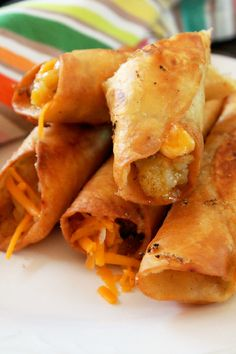 Crispy Mexican Flautas with Salsa, Potatoes and Cheese