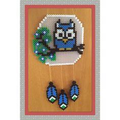Owl dreamcatcher hama beads by gittejulie