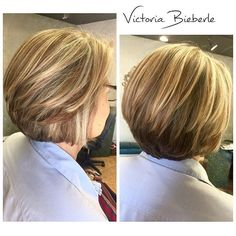 Layered Stacked Bob Hairstyle for women over 50                                                                                                                                                      More