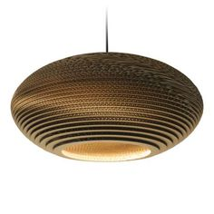 Disc20 Scraplight Natural Pendant Light