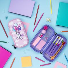 Unicorn pencil case for kids. Adorable pink, 3D embossed pencil case for for back to school time.